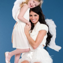 Christmas shoot with Chloe Simms and her six-year old daughter Madison
