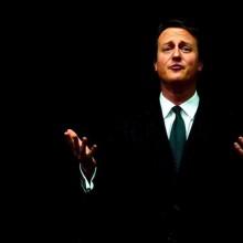 David Cameron, London