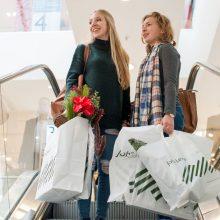 Christmas shoppers John Lewis, London