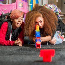 Toy testing at Amazon press show, London